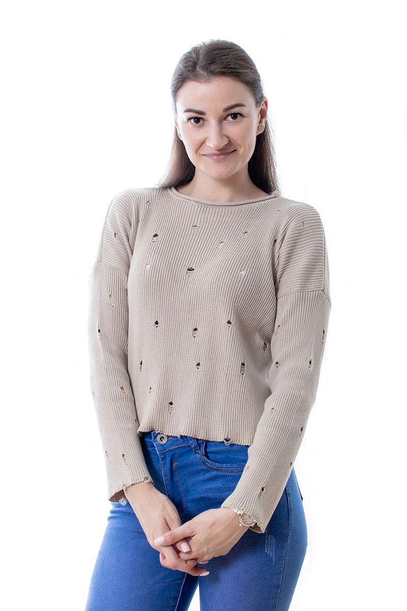 Džemperis ar plēsumiem