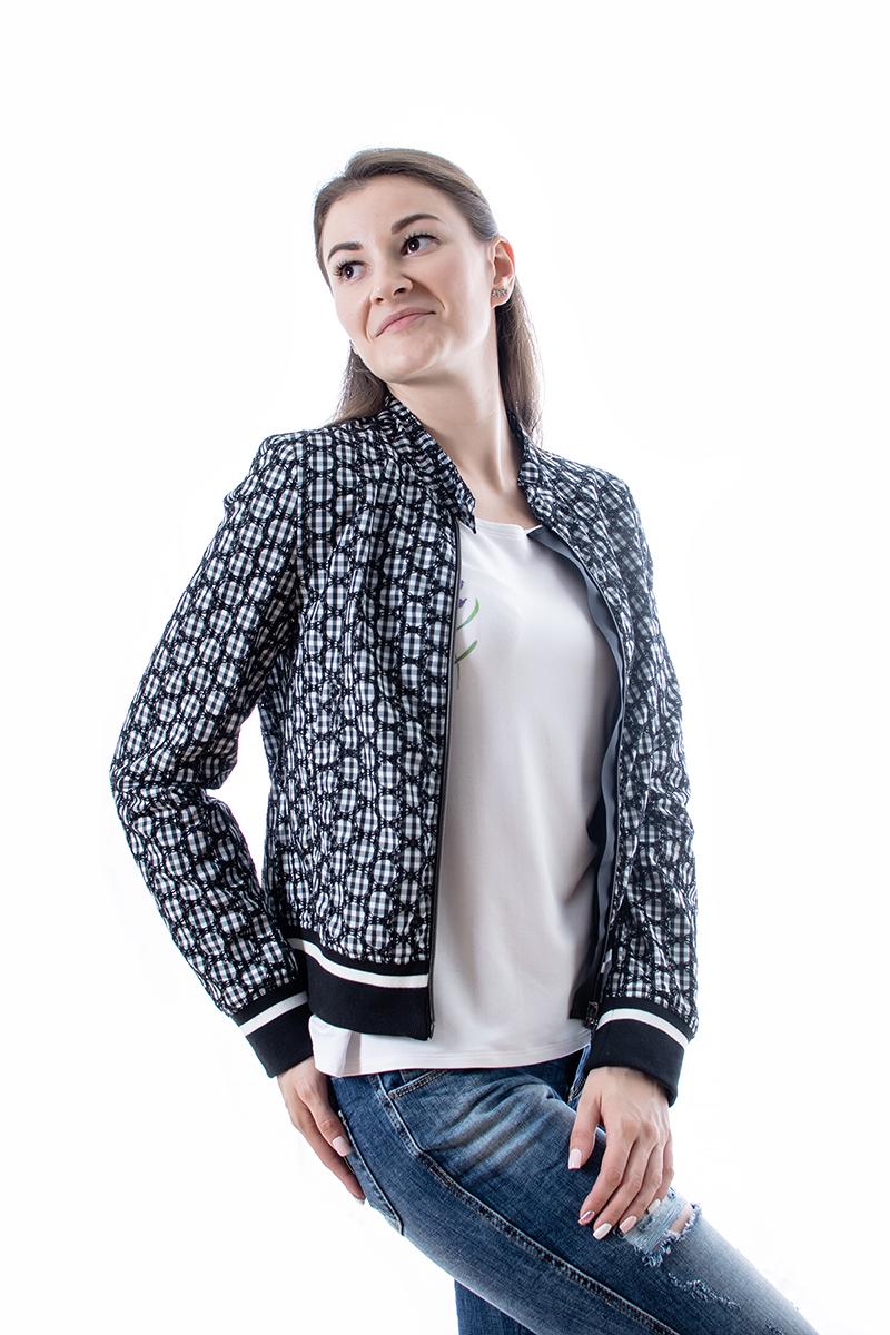 Sieviešu rūtaina īsa jaka