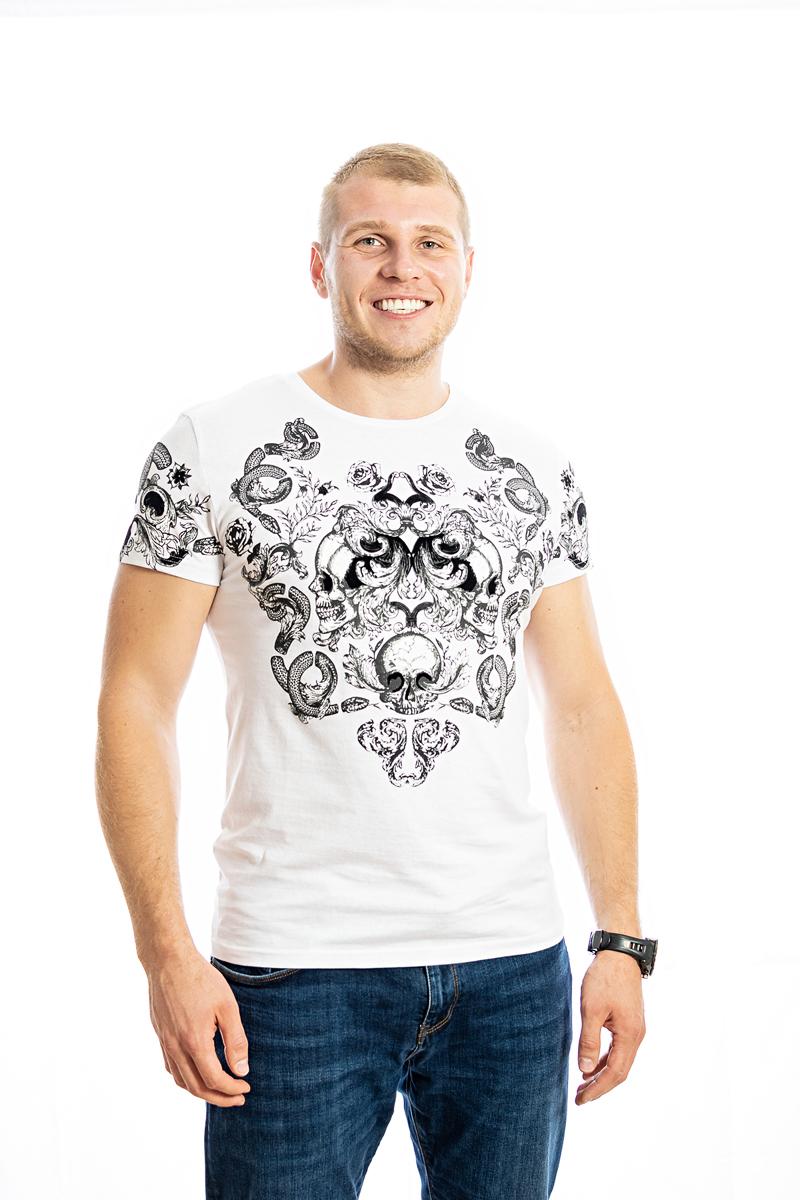Vīriešu T-krekls ar uzrakstu