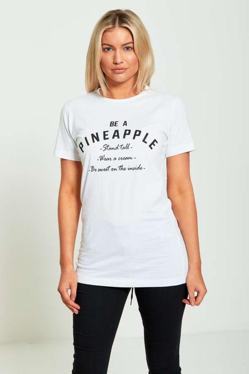 Pagarināts T-krekls ar apdruku